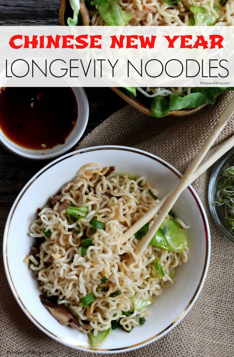 Homemade chinese food longevity noodles recipe
