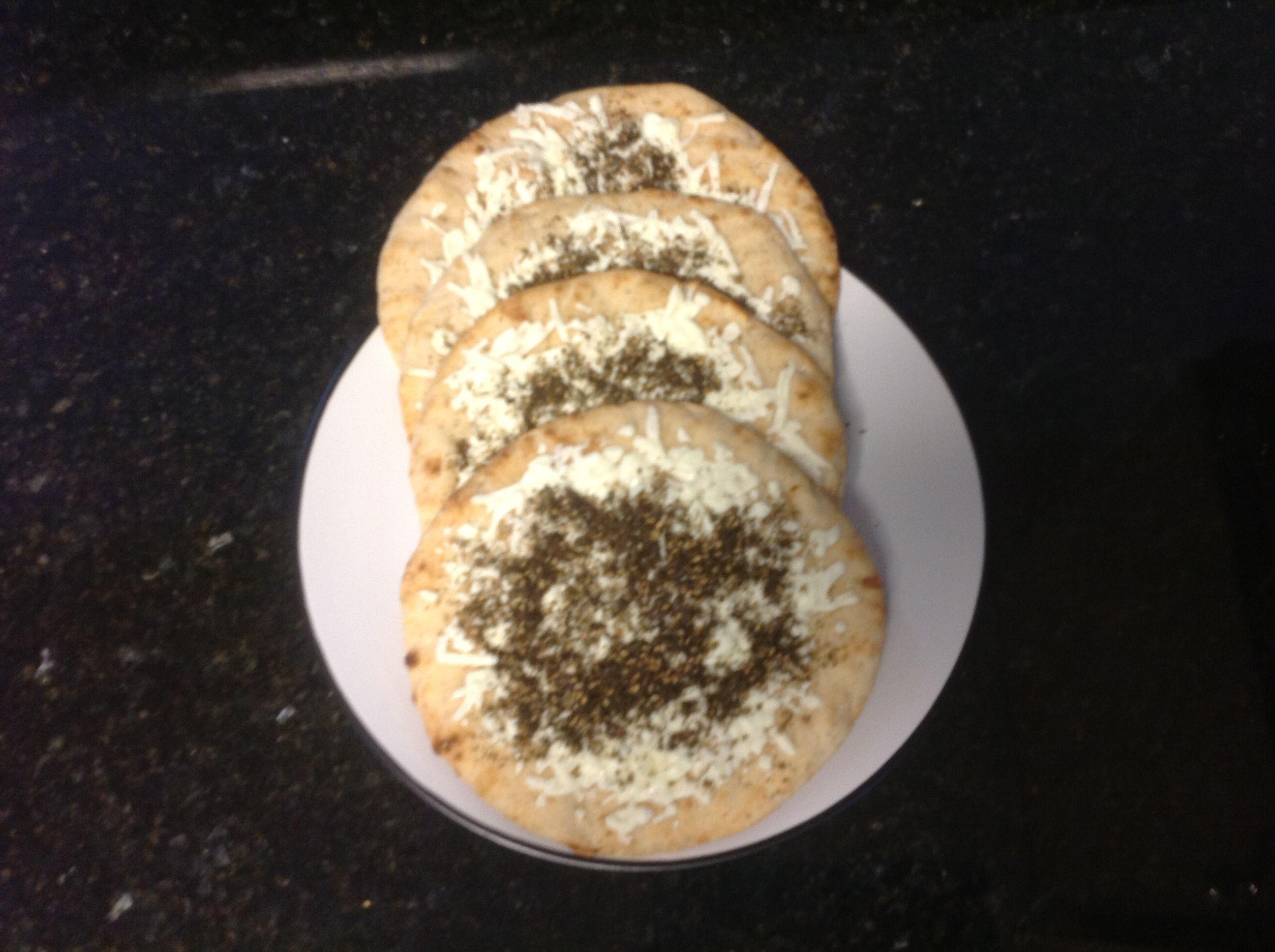 مناقيش جبنه و زعتر Cheese Zater Pies Food And Drink Food Bread