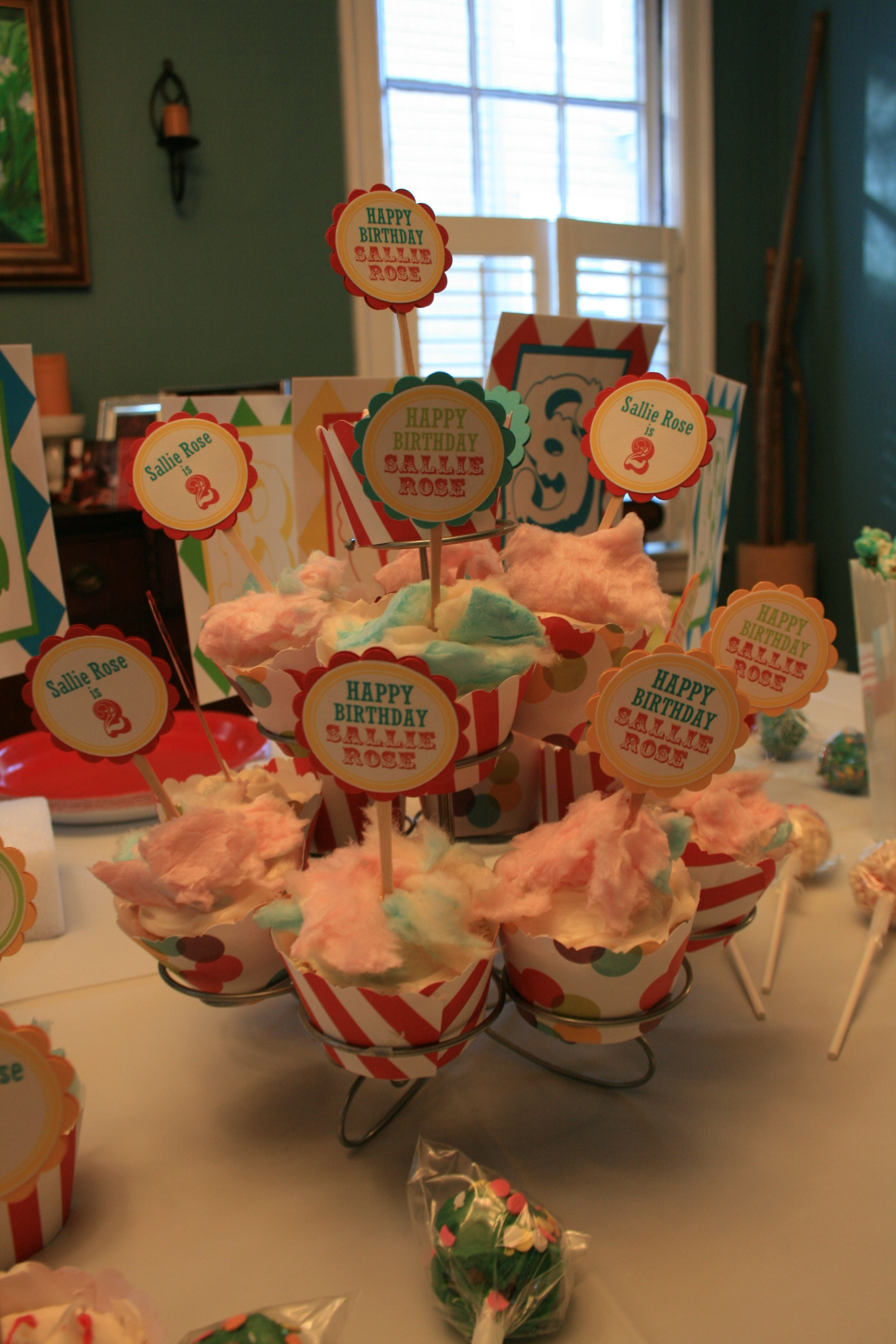 Cotton Candy Circus Cupcakes Kids