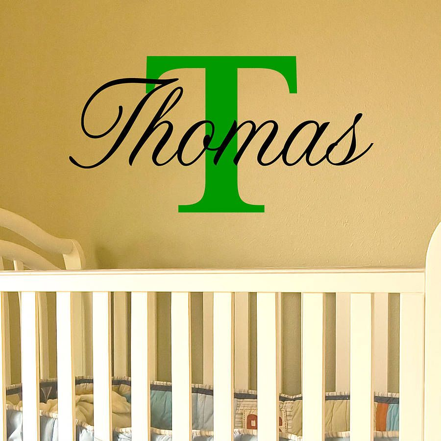 Name With Dots Capital Letter | Pinterest | Wall decals, Wall ...
