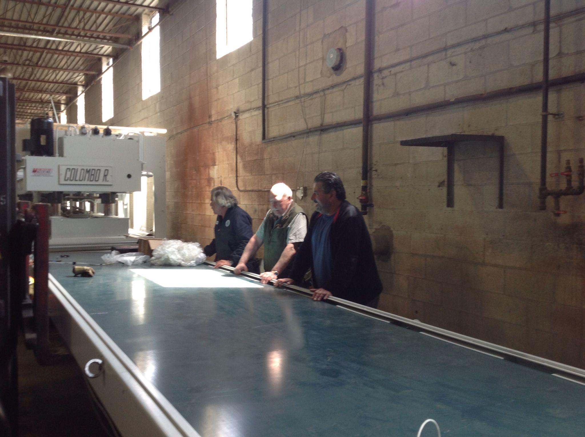 New Automated Hardwood Plywood Press Line: Week one progress. Image/ Monarchply.com