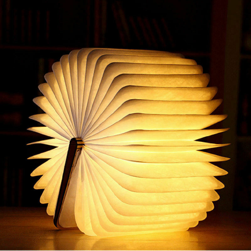 Details About Creative Wood Grain Book Lamp Usb Wooden Folding Book Rechargeable Led Light Book Lamp Rechargeable Lamp Lamp