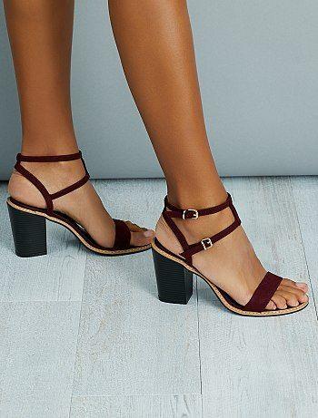 Antelina Sandalias Tacón KiabiShoes Prune De Mujer b7g6IfyYv