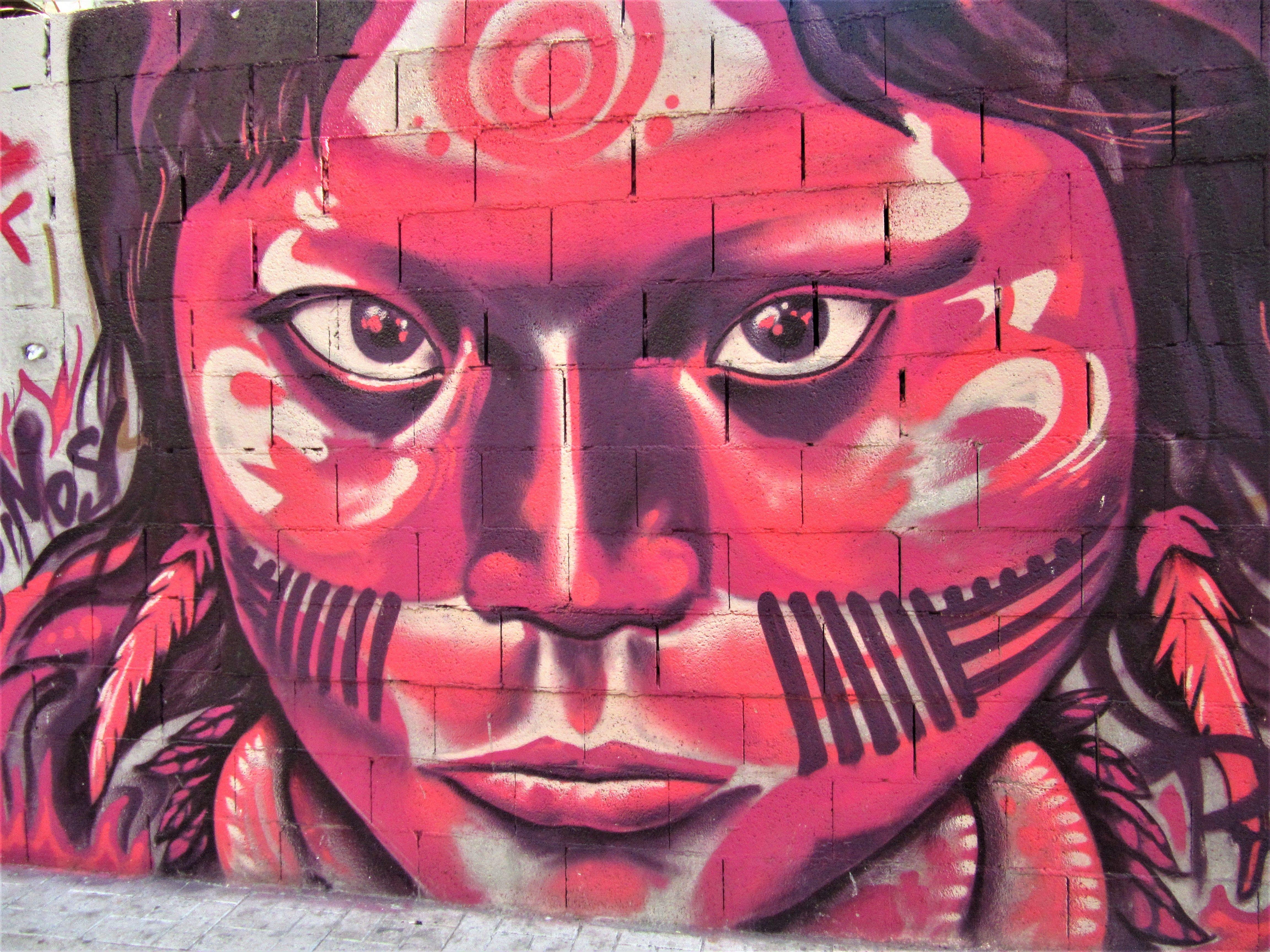 Málaga street painting art in 2020