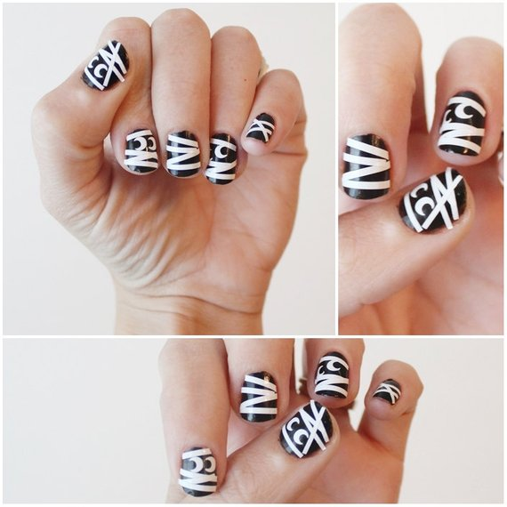 Mummy Nail Stickers. Halloween Themed Vinyl decals pack of ...