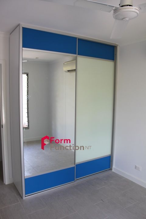 Touch of Blue Mesh (allows for ventilation) with one mirror panel and one white glass Panel. The white glass can also be used as a white board. & Form u0026 Function NT Style. Touch of Blue Mesh (allows for ...