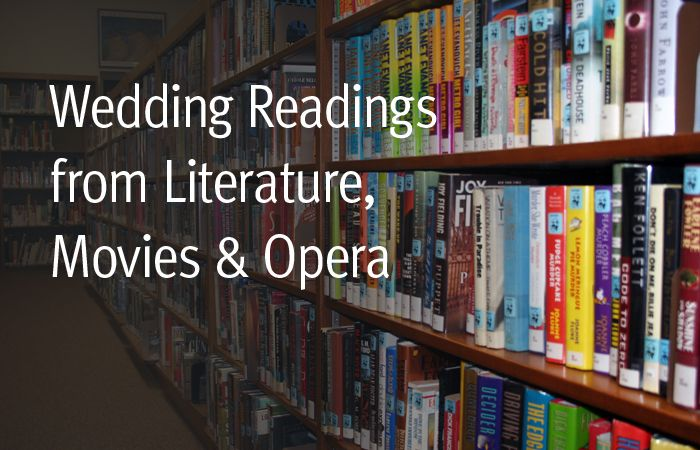 Wedding Readings From Literature, Movies, Opera (non