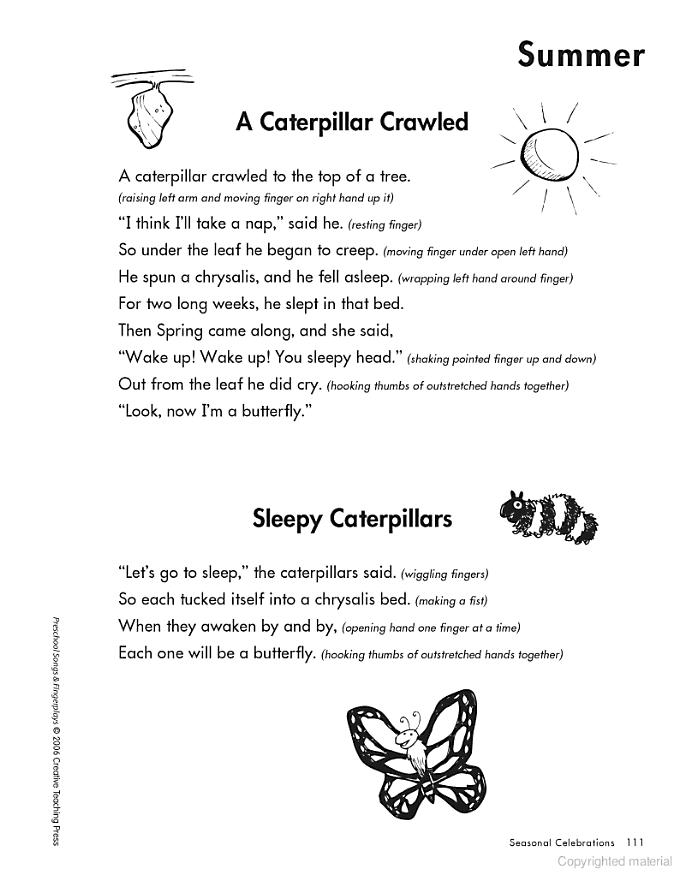 Preschool Butterfly Songs : preschool, butterfly, songs, Preschool, Songs, Fingerplays,, EBook, Songs,, School, Finger, Plays