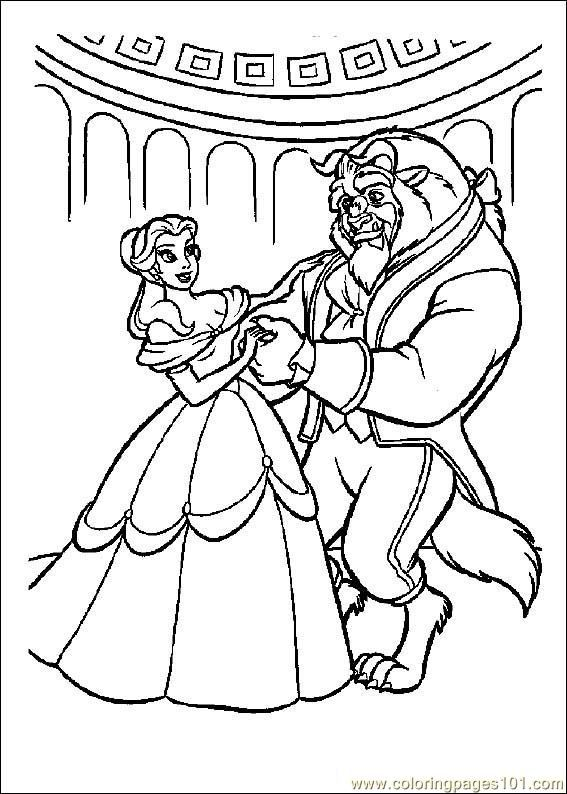 Beautybeast01 Coloring Page Dance Coloring Pages Belle Coloring Pages Princess Coloring Pages
