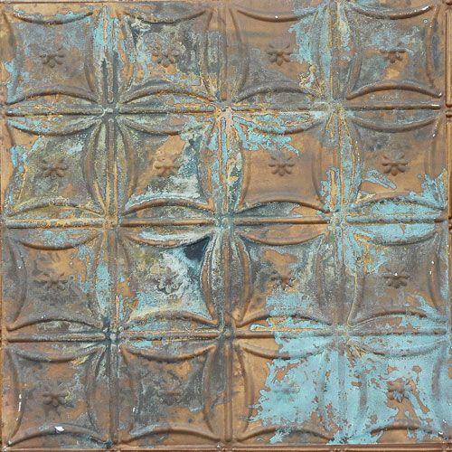 Tin Ceiling Xpress Antique Copper Patina Finish | Nana ...