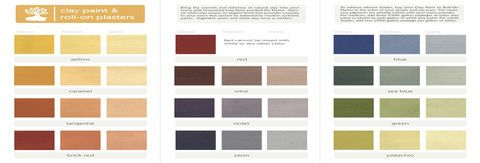 Unearthed paints natural no voc clay paint color palette for clay paint and clay roll on - No voc exterior paint concept ...