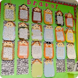 Then we copied the poem to practice our handwriting and created these cute little sleeping bag campers.  I cut out the sleeping bags {using the scrapbook paper from that same pack} and the heads and the kids added everything else.