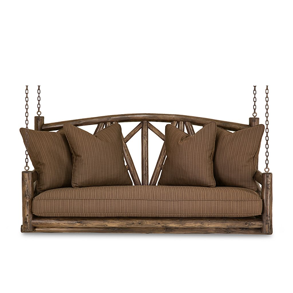 Rustic Porch Swing #1558 (shown in Kahlua Finish) by La Lune Collection