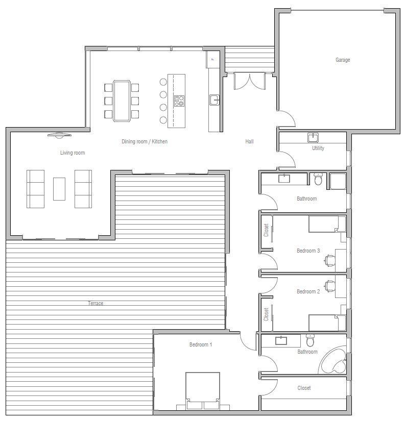 house design house-plan-ch374 10 casas de ensueno Pinterest