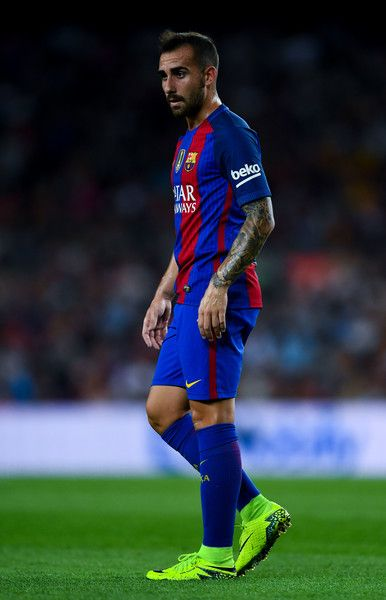 Paco Alcacer Of Fc Barcelona Looks On During The La Liga Match Between And Deportivo Alaves At Camp Nou Stadium September