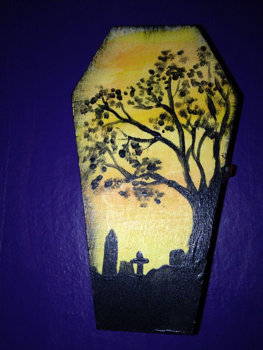 Hand painted mini coffin | Miniature coffins | Pinterest