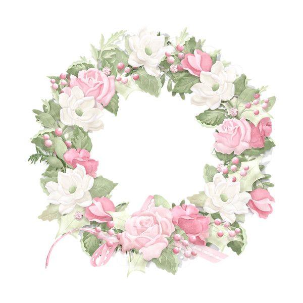 Wreath Maryfran Png Mawar Bunga Bingkai Foto