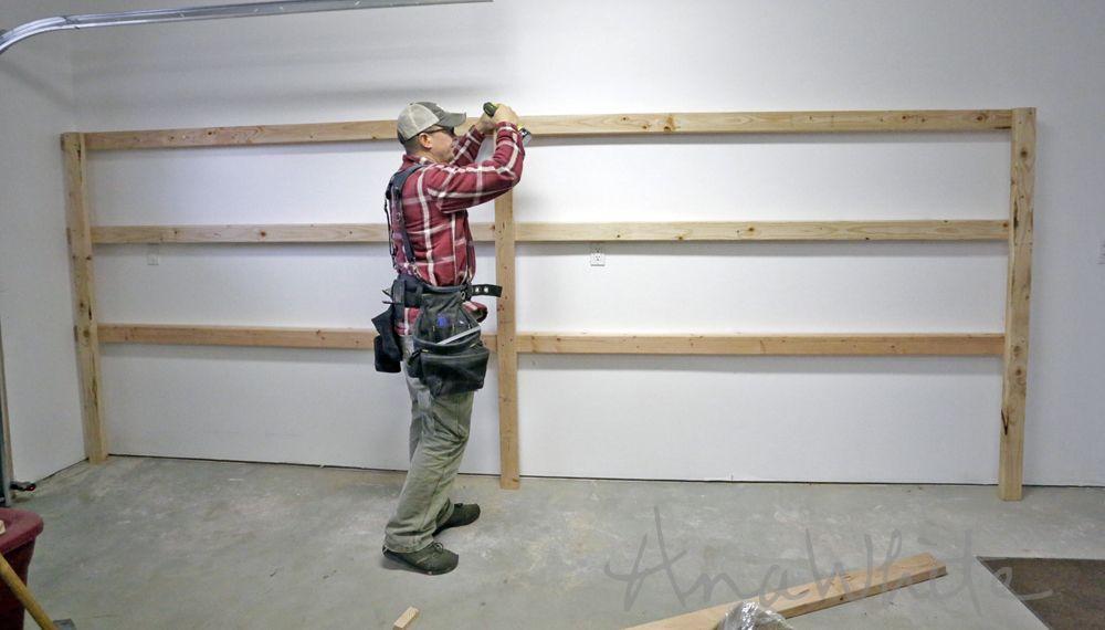 Best diy garage shelves attached to walls diy storage