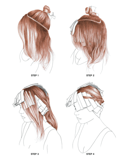 Radiance Step By Step Bangstyle Hair Color Placement Hair Color Techniques Hair Techniques