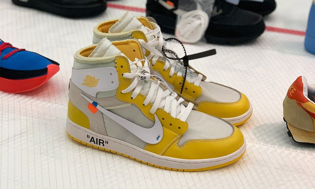 It Looks Like The Off White X Air Jordan 1 Canary Yellow Is