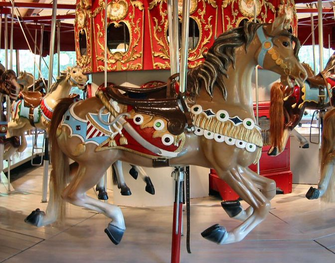 1911 12 Looff Carousel At Heritage Museums Gardens Sandwich Ma