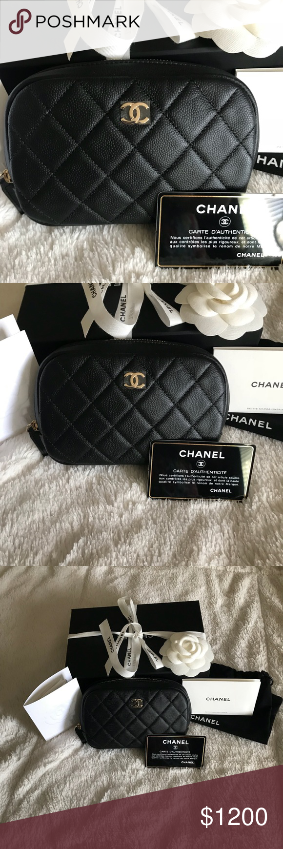 9b366c154e82 Chanel O Case Black caviar leather with gold hw Brand new in box. 100%  Authentic. Comes with box  dust bag ribbon care booklets  camelia.