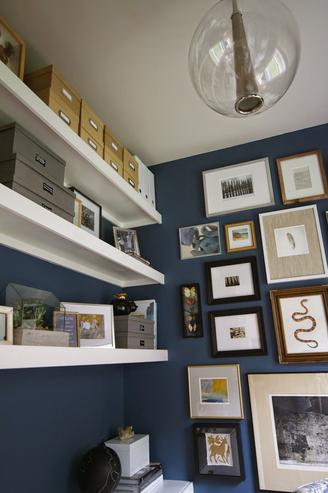 Great Office Deep Blue Paint Van Deusen By Benjamin Moore Design Dump