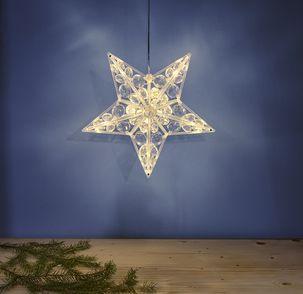 julstjärna fönster clas ohlson