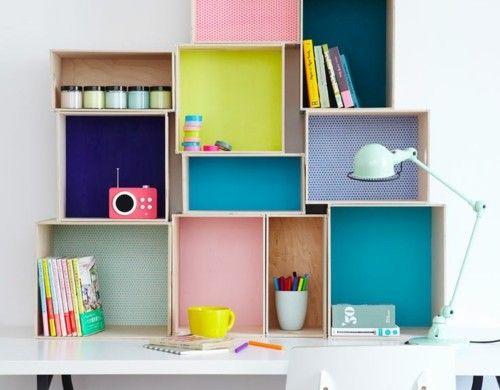 schreibtisch selber bauen diy büro holzkisten dekorieren - schreibtisch selber bauen ikea