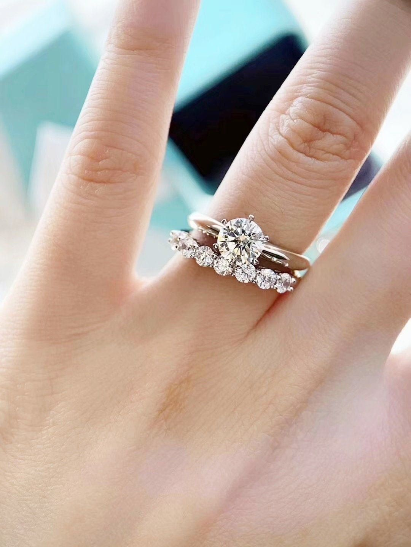 Bridal Ring Sets 1 Carat 1 5 Carat 2 Carat 3 Carat Round 6 Etsy In 2020 Bridal Ring Sets Solitaire Engagement Ring Gorgeous Wedding Ring Sets