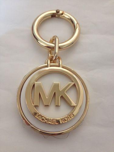 f498940ef675 NEW Michael Kors Gold MK Logo Medallion Key Fob Key Chain Key Ring Charm in  Clothing