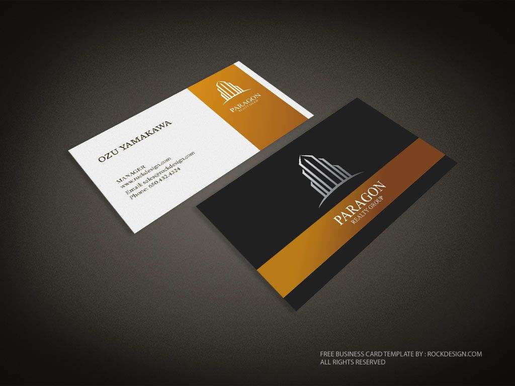 real estate business card template download free design templates - Real Estate Business Card