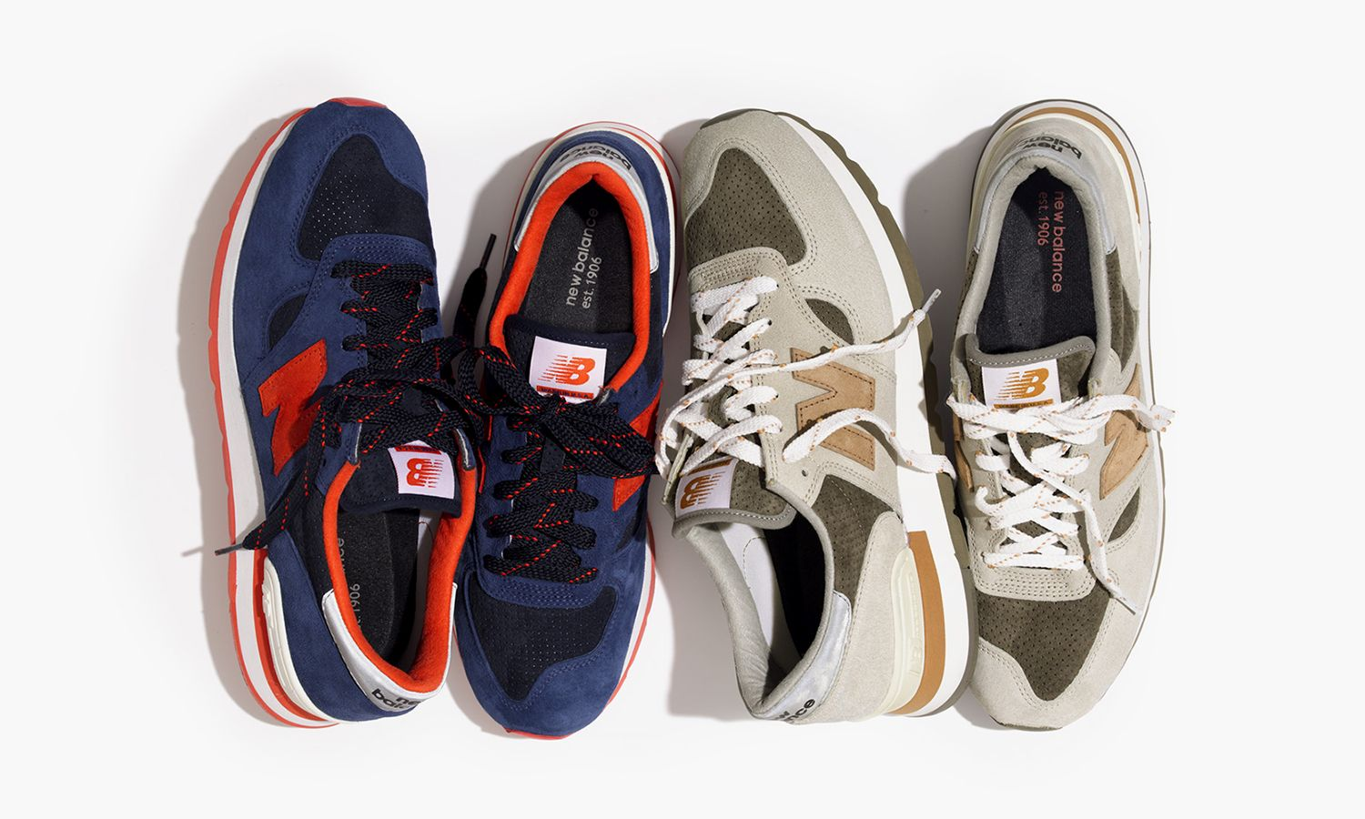 Crew s partnership with New Balance will continue in the form of these New  Balance 990 pairs. The group includes two colorways  the