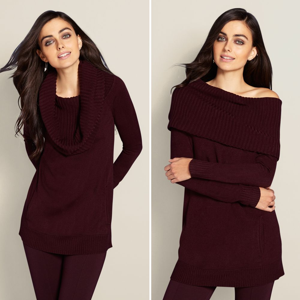 One amazing sweater, two ways to wear - Try it as an off the ...