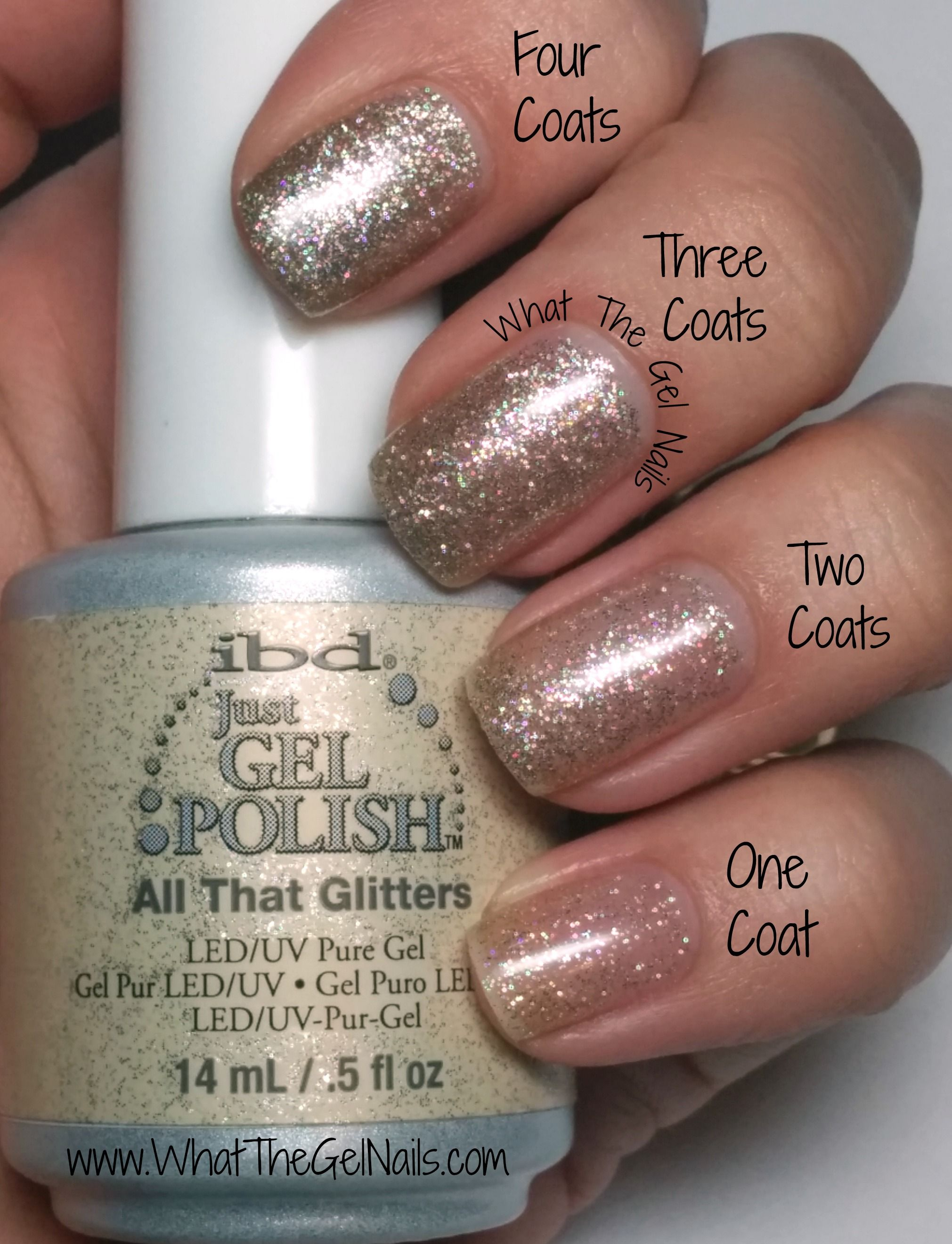 IBD All That Glitters plus more Christmas gel nail colors. | IBD ...