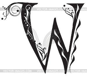 Decorative Letter W Vector Clip Art Drawing Pinterest