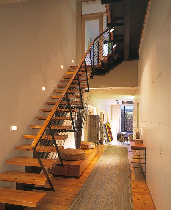 A Parking Garage Becomes A Nyc Townhouse With Drama Stairs Design Staircase Design House Front Design