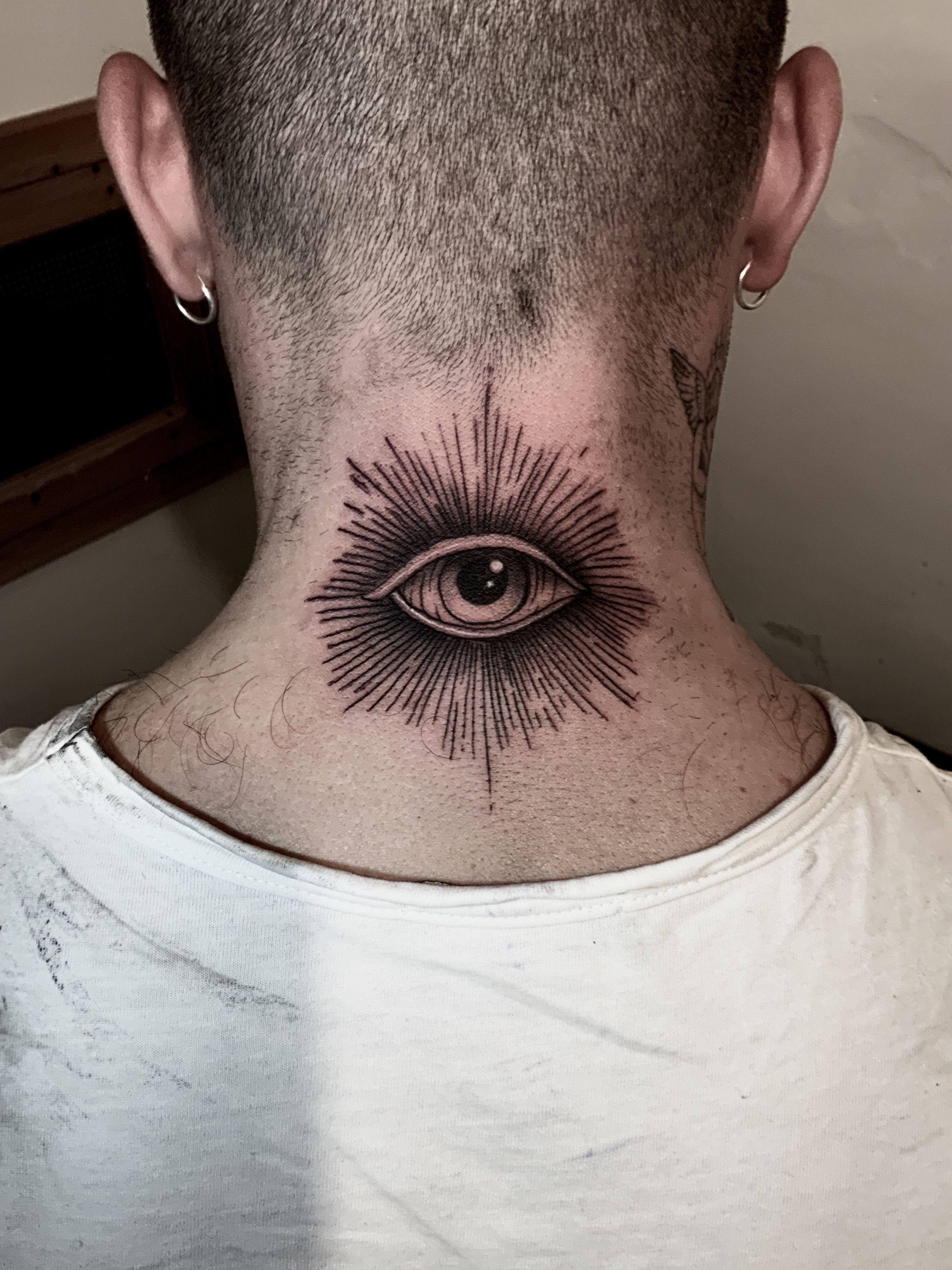 Dark eye in 2020 back of neck tattoo neck tattoo eye