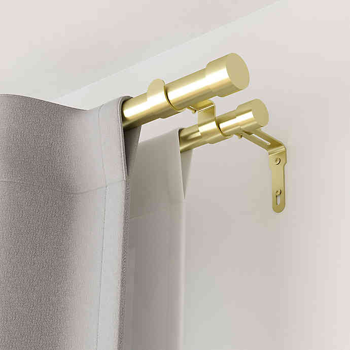 Umbra Cappa Adjustable Double Curtain Rod Set In 2020 Double Rod Curtains Double Curtains Double Curtain Rod Set