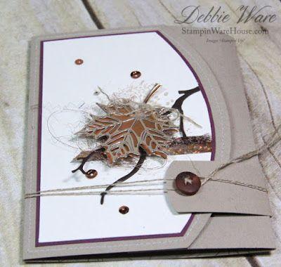 Fallende Blätter Dreifachgefaltete Geburtstagskarte (Stampin 'Ware House) #blatter #dreifachgefaltete #fallende #geburtstagskarte #house #stampin #fallingleaves