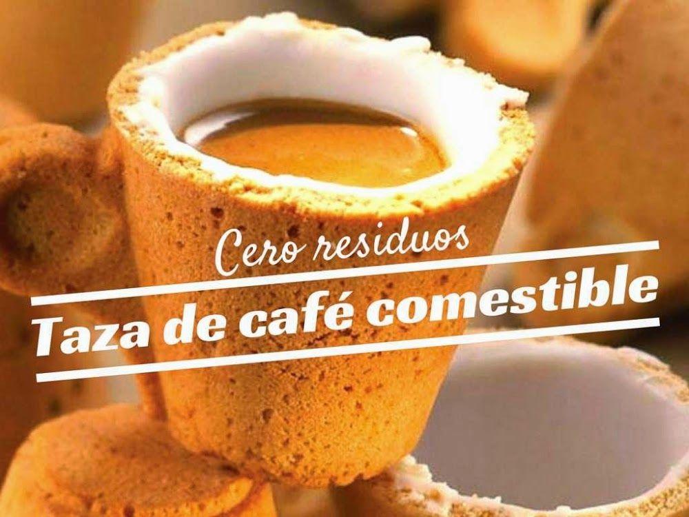 Taza de café comestible