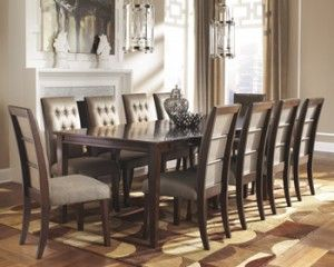 formal dining room designs with chair cover | Ashley Furniture – Larimer Rectangular Ext Dining Table ...