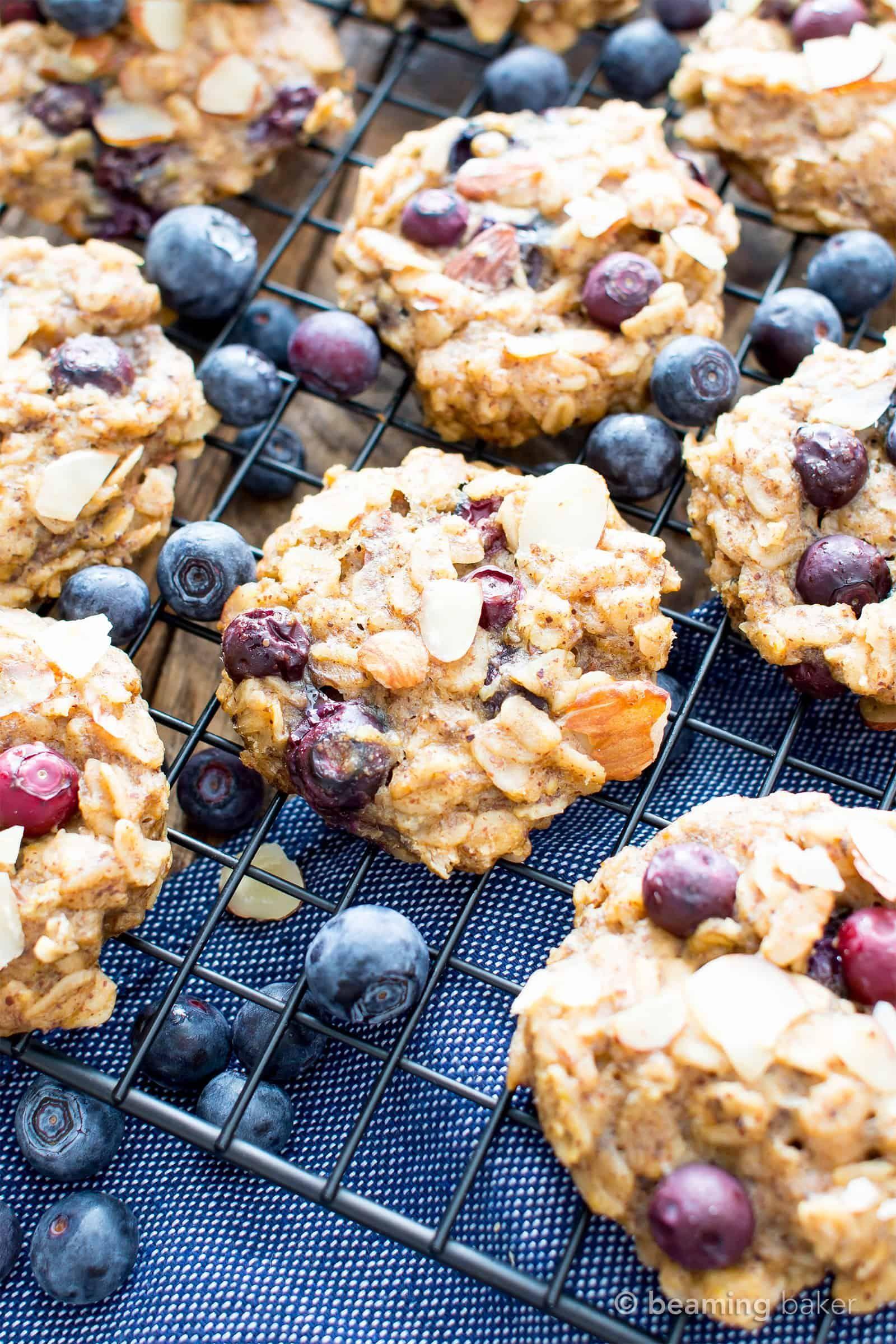 Gluten Free Blueberry Banana Almond Breakfast Cookies V Gf A