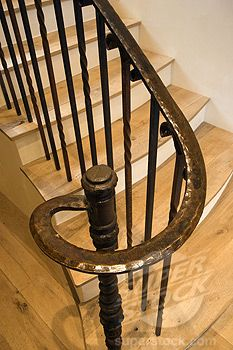 Best Stairway Made Of Hardwood And Circular Wrought Iron Railing California Luxury Home In 2020 400 x 300