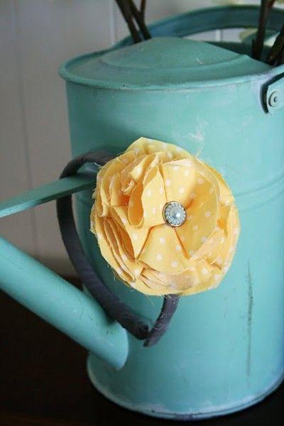 Fabric Flowers--No sew