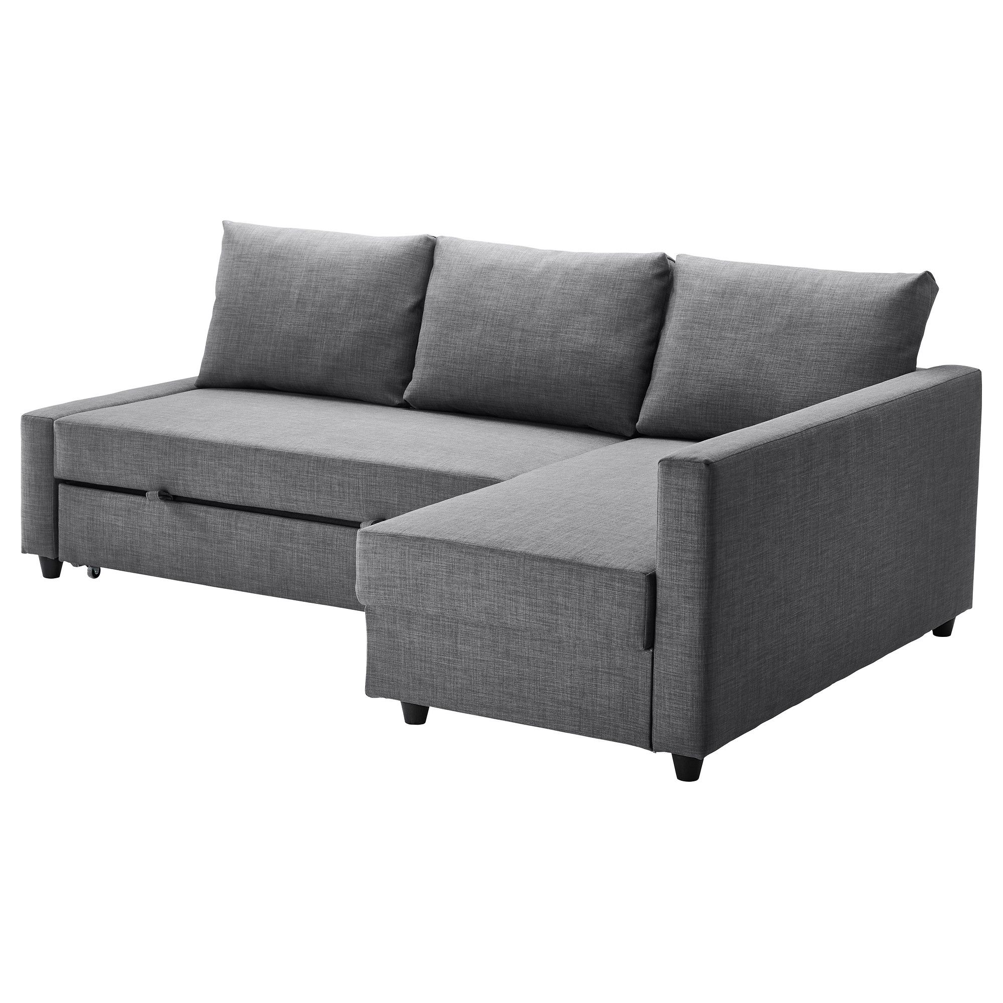 Eckbettsofa leder  IKEA - FRIHETEN, Sofa bed with chaise, Skiftebo dark gray, , , You ...