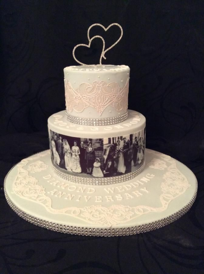 Diamond Wedding Anniversary Cake For My Parents With Images
