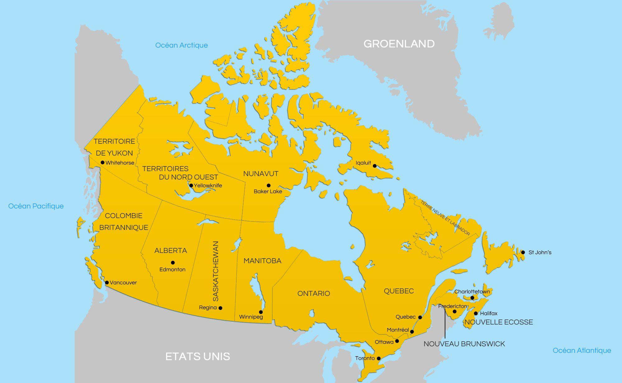 Carte Canada Uni.Image Result For La Carte Du Canada Social Studies Canada Map
