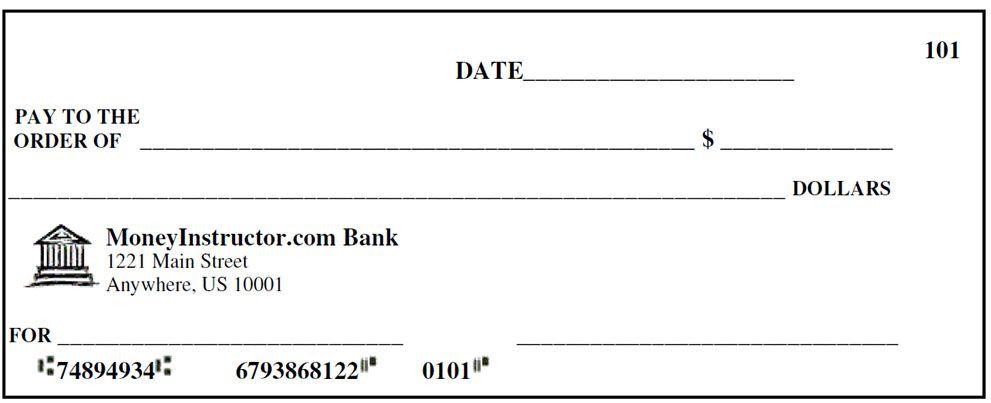 fake blank check template