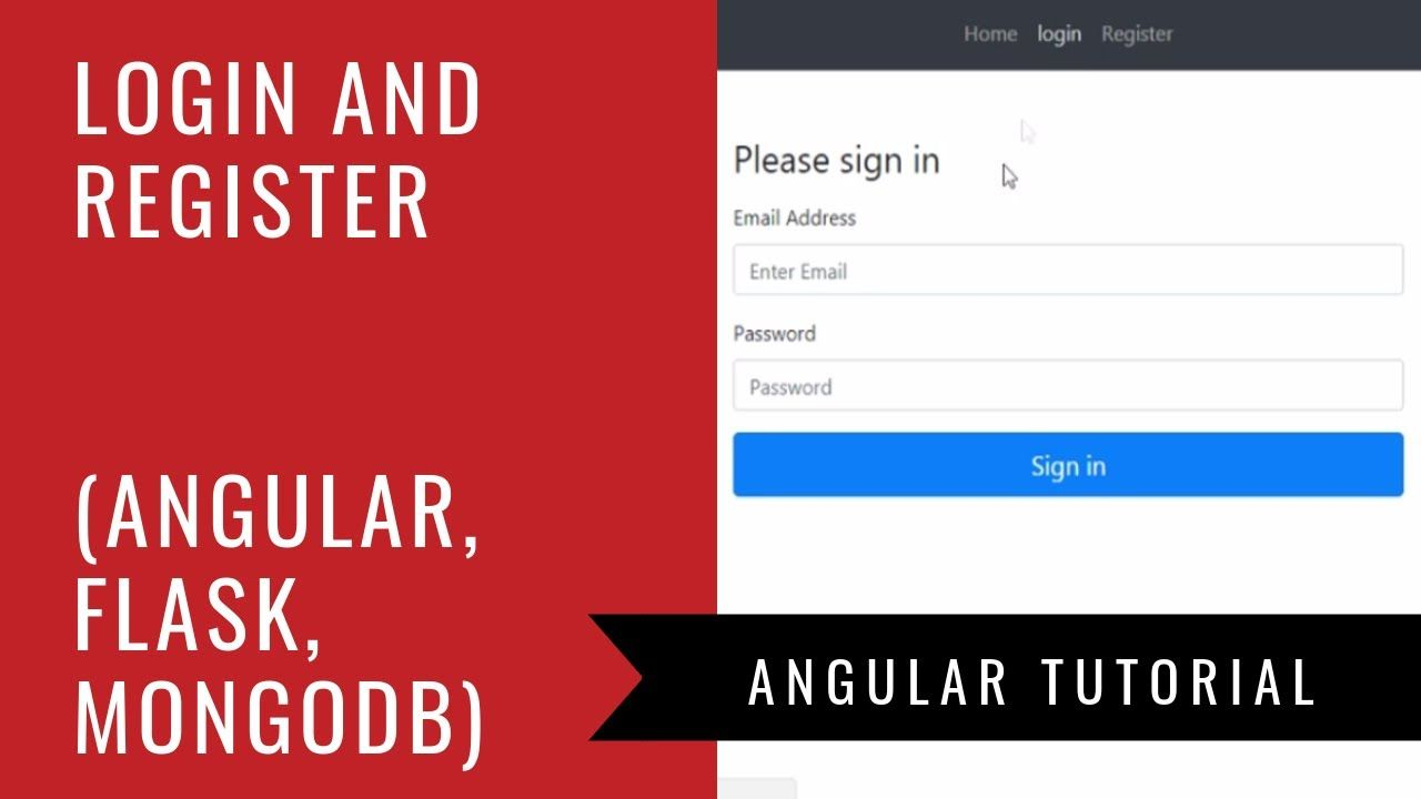 Angular 6 + Flask + MongoDB - Build a Login and Registration Web App
